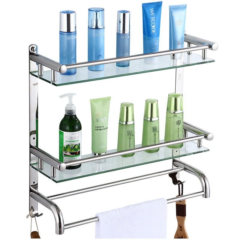304 Edelstahl Bad Dusche Ecke Regal Bad Rack Glas Ecke Regal Design