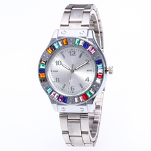 Promotion 30 free shipping Top Brand Luxury Women leather Watches Fashion Casual Female Reloj Colored diamond watch BD044