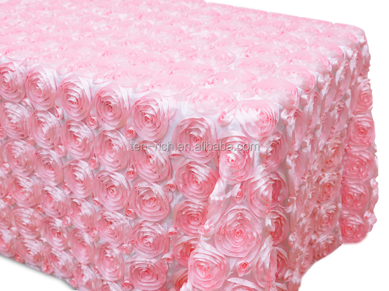Satin Rosette Tablecloth,/fabric/ Table Runner,/overlay