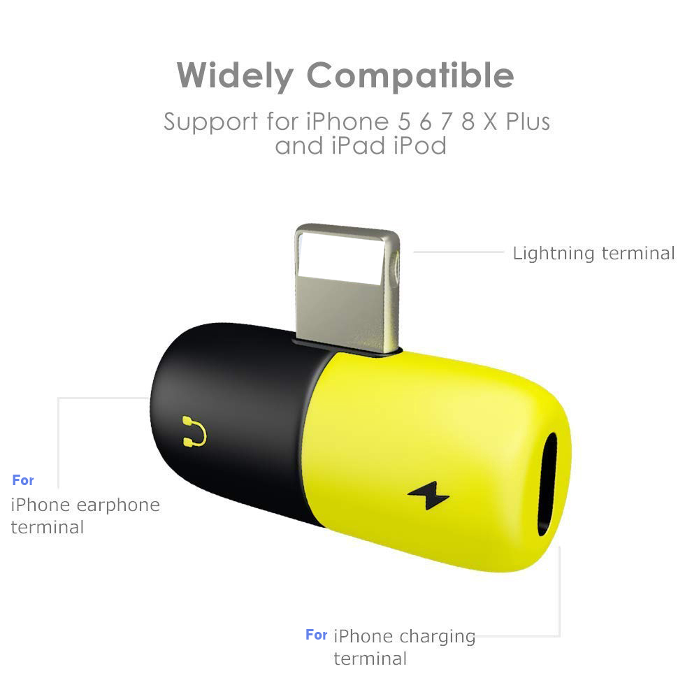 Newest Design 2 In 1 Pill Shape Splitter Usb Cable Converter Usb Cable Adapter for Mobile Phone