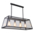 Industrial Large Rectangle Hanging Glass Box Chandelier pendant light