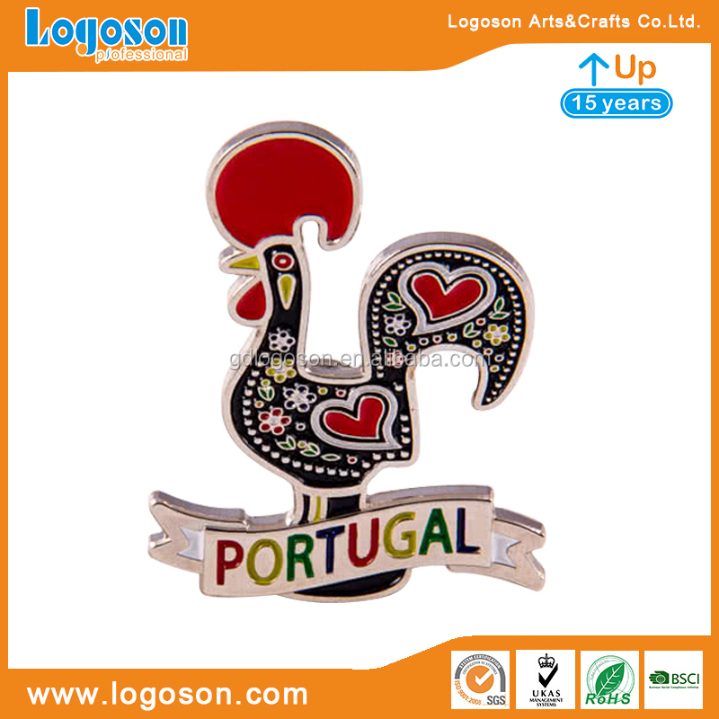 Portugal Metallic Fridge Magnets Souvenir Aluminum Silver Foil Paper Magnet Fridge Sticker
