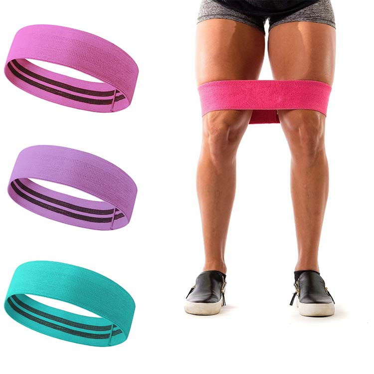 Ins Hot Factory Wholesale Non-rolling Hip Circle <strong>Resistance</strong> Band for Booty Shaping and Lifting