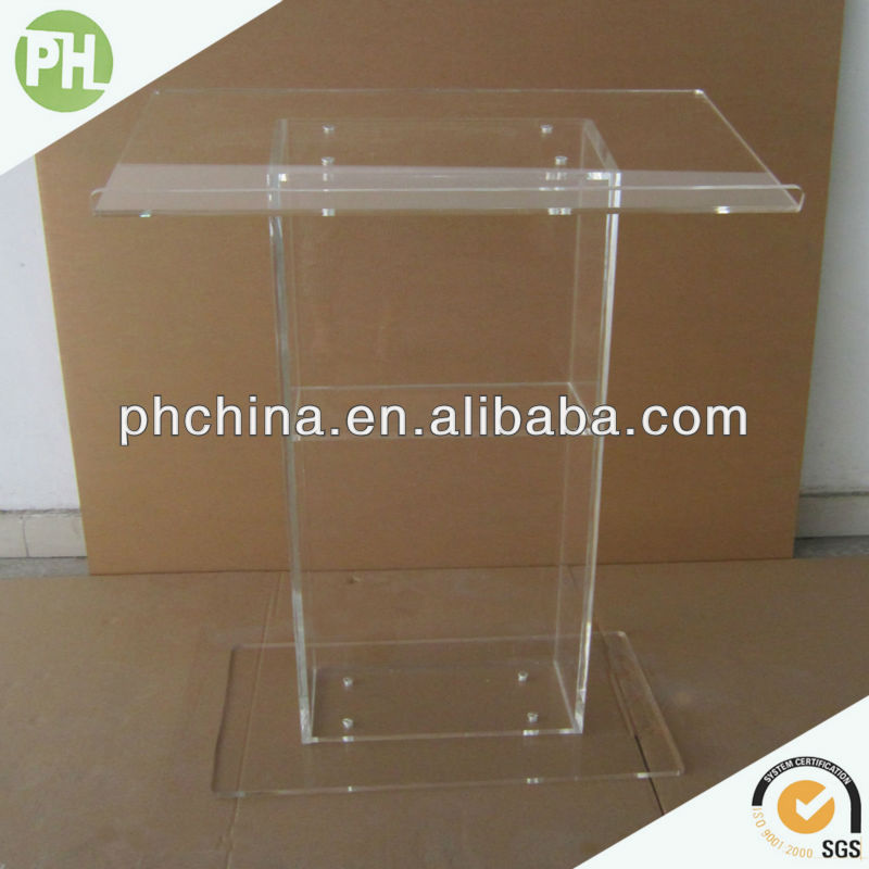 Ph Sale Custom Design Glass Pulpit/lucite Clear Glass Pulpit/glass ...