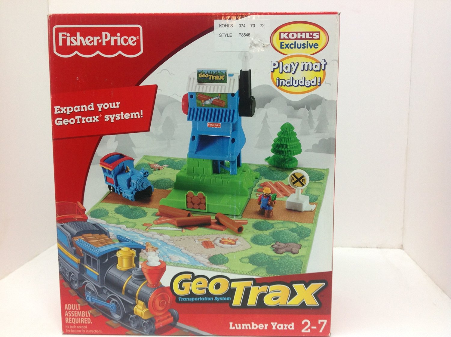 GeoTrax Fisher Price Lumber Yard Kohls Exclusive #P8546 Year 2009