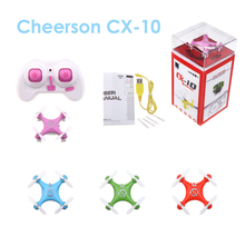 High Quality Cheerson CX-10 CX10 Mini 2.4G 4CH 6 Axis LED RC Quadcopter RTF