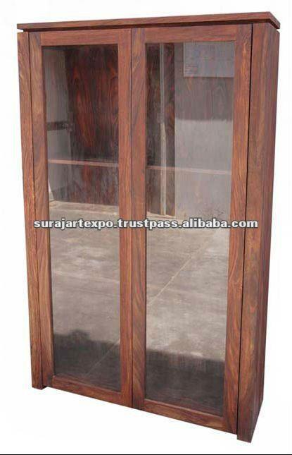 moderne en bois porte en verre vitrine garde robe id de produit 134643370. Black Bedroom Furniture Sets. Home Design Ideas