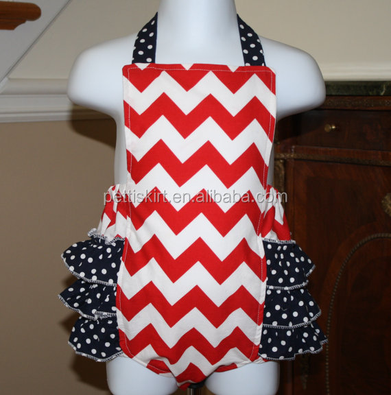 Navy baby clothes wholesale polka dot ruffles red white chevron romper first impressions baby carter clothes