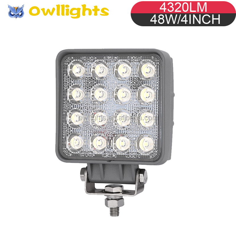 truck trailer Parts 48W Led Work Light High Power 4X4 4WD Offroad Atu Suv three wheel motorcycle