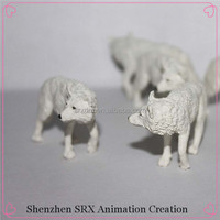 Customized Plastic Snow Wolf Wild Animal Small Figure Toys,Oem ...