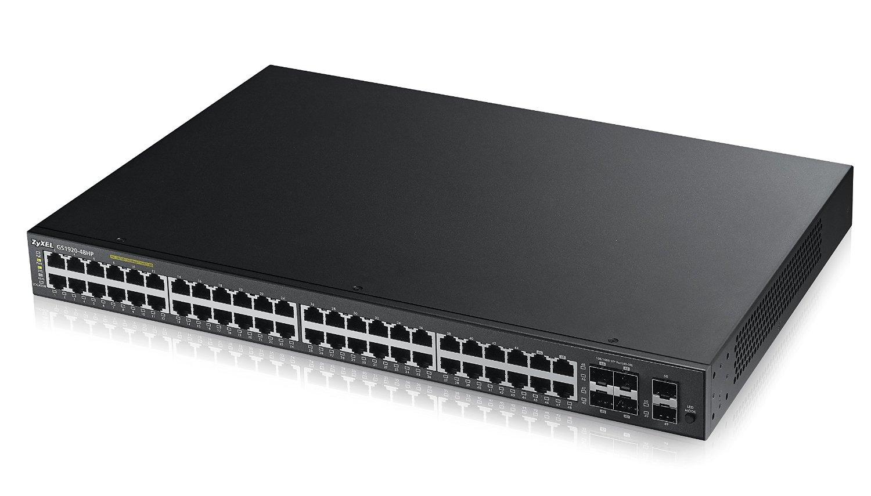 ZyXEL GS1920-48HP - Switch - Managed - 44 x 10/100/1000 (PoE+) + 2 x Gigabit SFP + 4 x combo Gigabit SFP - desktop, rack