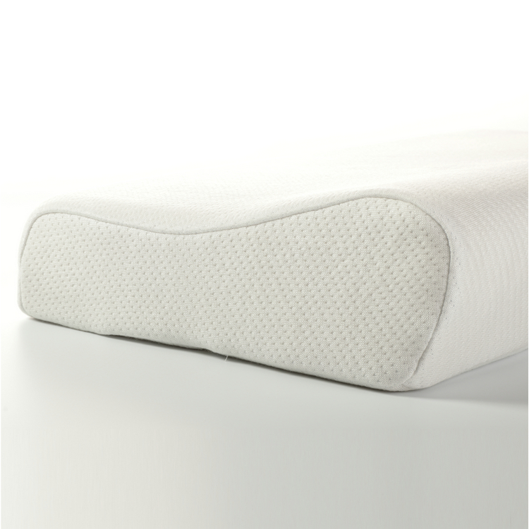 Standard Size Moulded Elastic Neck Support Memory Foam Contour Pillow