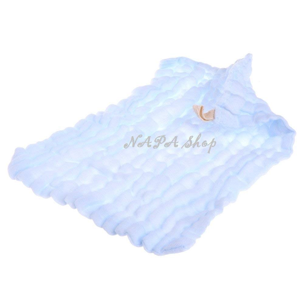 NAPA Shop Blue Soft Cotton Baby Handkerchief Infant KidsTowel Newborn Baby Washcloth Baby Child Feeding Wipe Cloth