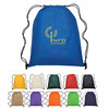 Nice design custom made reusable 4mm string pp non woven drawstring bag