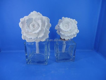 50ml/100ml Square Glass Bottle with Ceramic Flower for Diffuser TS-CD08