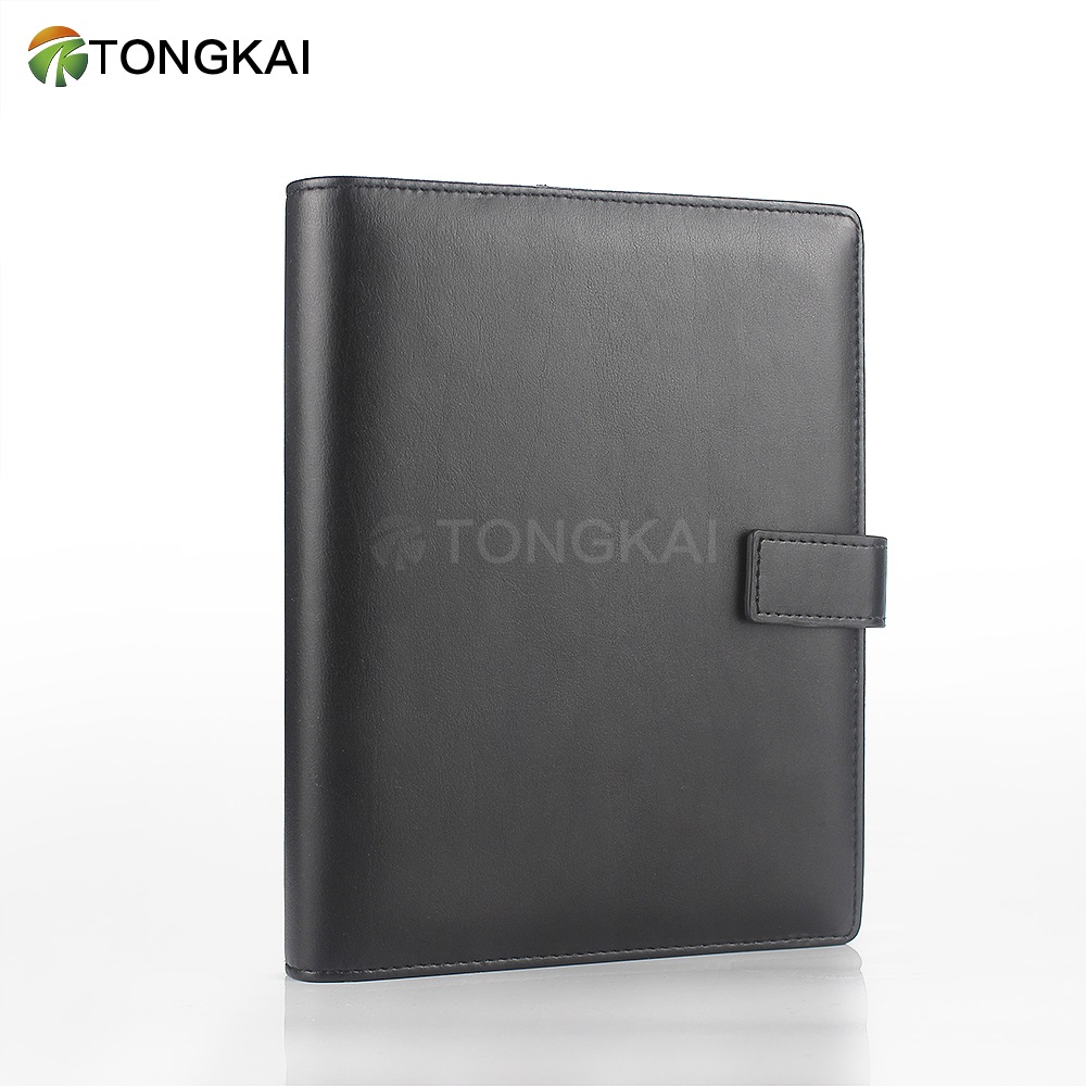 Tongkai Nieuwe Business 6 Ringband Kantoor Met Card Slot Notebook PU Lederen