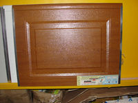 Wood Grain Overhead Sectional Garage Door Panel With Golden Oak Color
