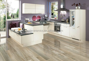 Tonia Polished Glazed Porcelain Glossy Wooden Floor Tiles