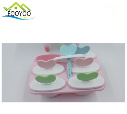 FY-890 plastic DIY food- grade 6 spaces ice lolly sticks custom ice mold commercial popsicle molds