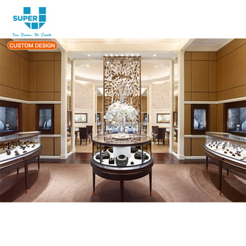 Customized Bangladesh Retail Shop Ideas Pearl Necklace Jewelry Store Design