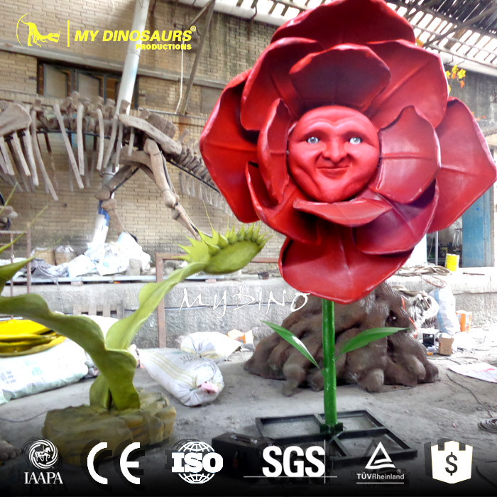 My Dino-AP051 Park Decoration Hand Made Artificial Flower Sculpture