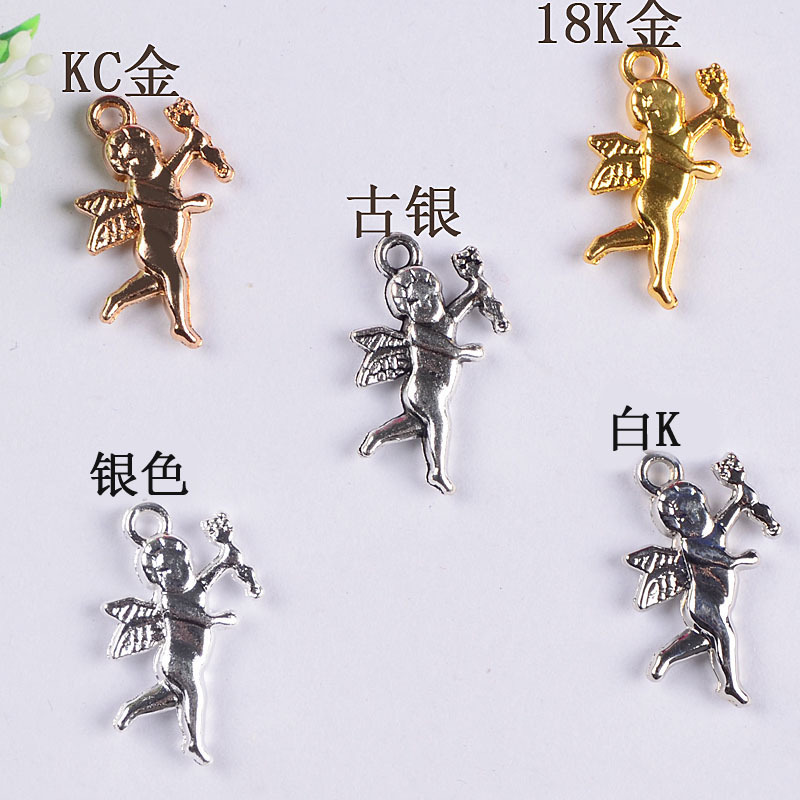 Fashion Flower Wizard Pendant Alloy Bronze Charms Jewelry Accessories