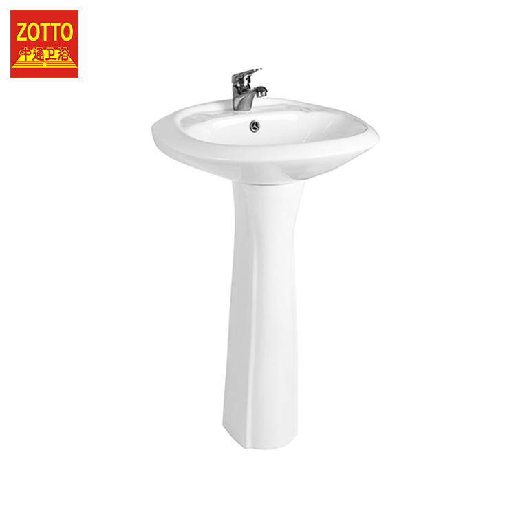 Professional safety decorative basins oval brands pedestal wash basin made in China
