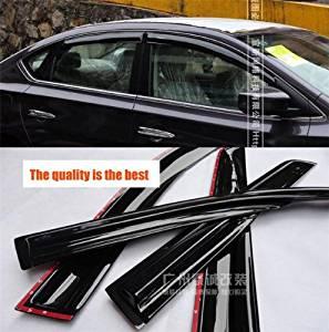 Get Quotations · Car Parts Hatch Vent Wind Deflector Visor Sun Rain Guards  Door Window Fit For Nissan Sentra f614cf757d2