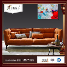 The Hot Sale Modern Single Sofa,Orange Sofa,Velvet Sofa