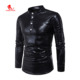 Men Crocodile Skin Casual Tshirt,Cool Breathable Quick Dry Long Sleeve Outdoor Running Tshirt