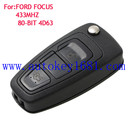 Car Key Alarm For Ford Focus 3 Button before 2011 years Remote Control 433 MHZ with uncut blade key