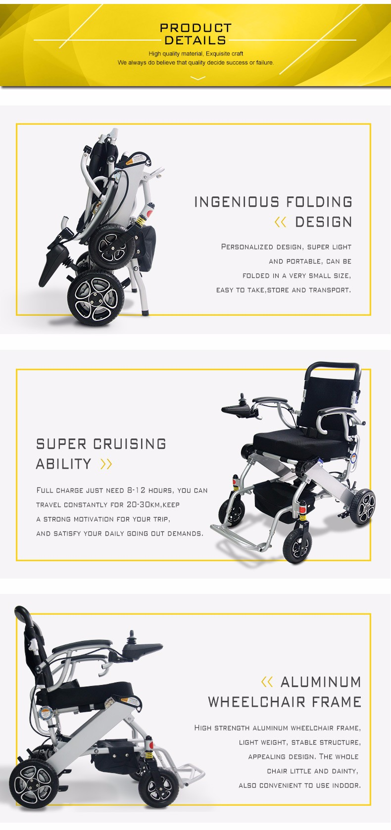 China new products folding mini lightweight liberty 312 power wheelchair  manual with lithium battery