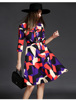 Hot Sale floral printed dress elegant printed dress for women Z1080