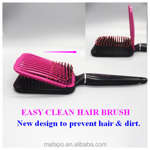 New designed easy to clean goody cleaning hair brush