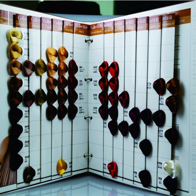 professional hair color chart professional hair color chart suppliers and manufacturers at alibabacom - Matrix Color Book