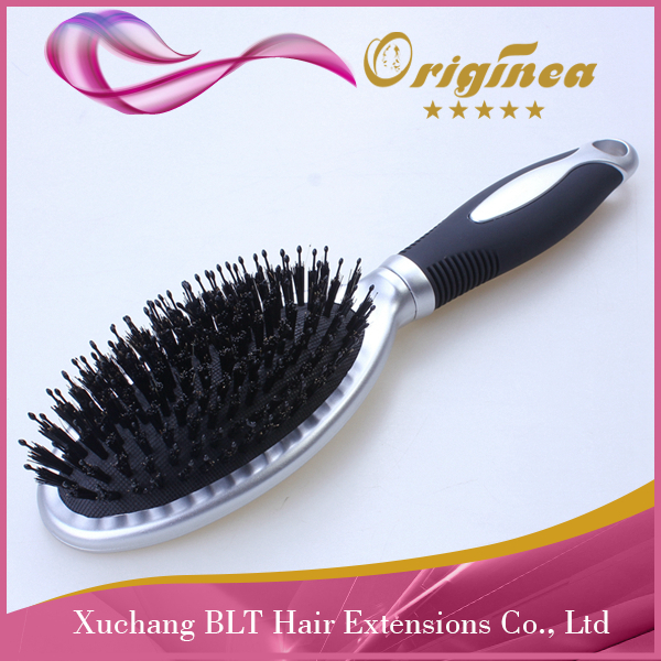 high quality silver bristle hair brush