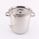 New Silver Stainless Steel Soup&Stock Pot Induction Cooking Pot Wholesale