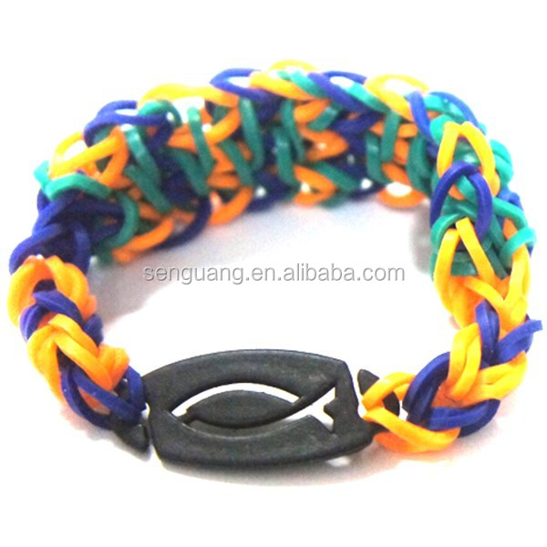 Custom hot selling cheap Silicone rubber band weave bracelet,Small weave silicone bracelet in various color