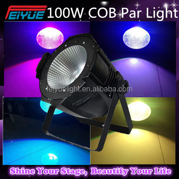 2PCS/LOT Dmx Par Light RGBW COB LED PAR 100W Light Dj Dmx 512 Led Cob Par Can Stage Wash Light Night Club Party Effective Disco