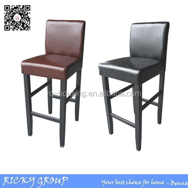 RQ-21112B Wine red and black unique leather bar stool design