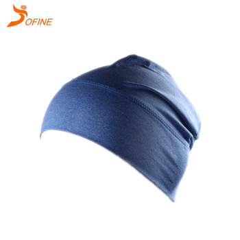 Unisex soft cation stain colors running beanie hat with reflective logo d99d002832a