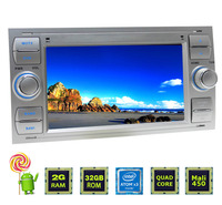 Customized 7 inch autoradio 2 din gps stereo Bluetooth review camera dvd portable For Ford