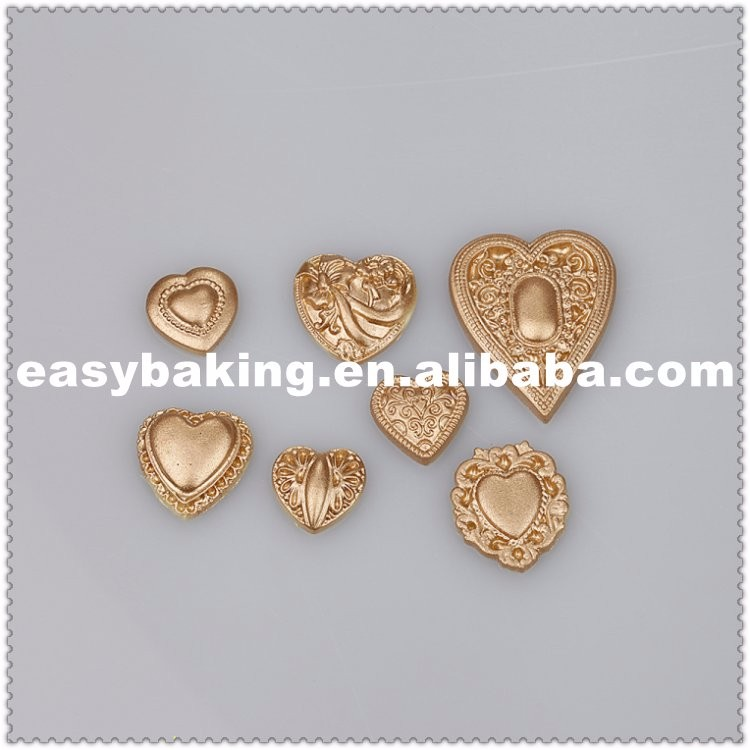 ES-7019 Love Heart Shape Cake decorating fondant silicone molds