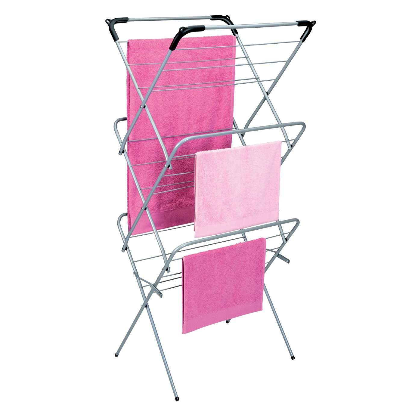 3 tier Concertina Clothes Horse Laundry Airer Washing Dryer 30ft Drying Space **