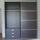 HX-MZ659 Two door sliding wardrobe resin cabinet wardrobe