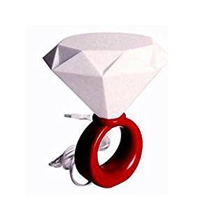 Geekercity Romantic Diamond Ring Shaped USB Powered LED Desk Lamp Night Light Lamp