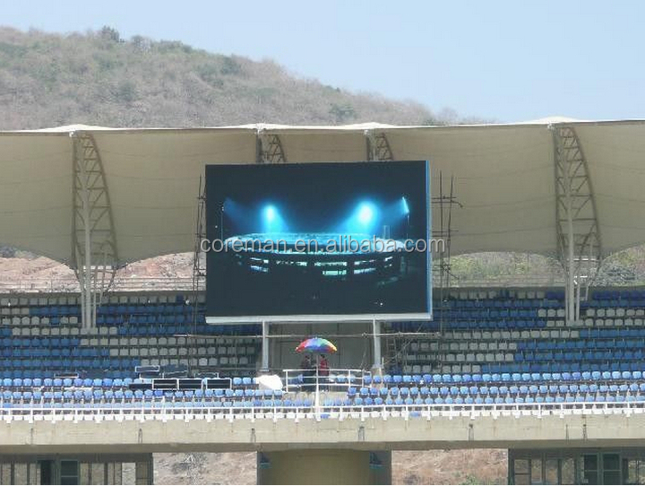 led stadium signs display screen coreman led display 64x64 iron