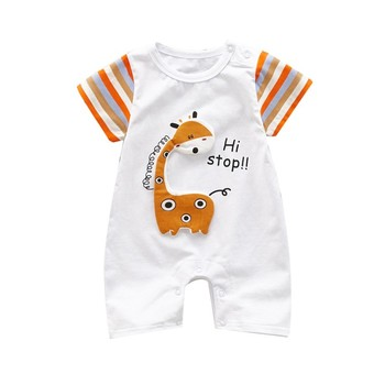 Baby Bodysuit Girl Jumpsuit Short Sleeve Cotton Baby Rompers