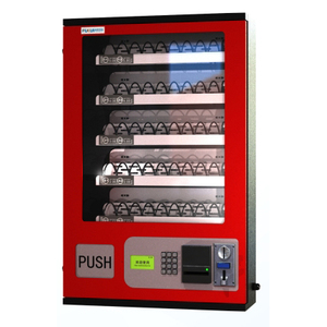 Wall handed Vending machine with Condom dispenser/mini vending machine with impluse coin receiver equipment/cigarette dispence