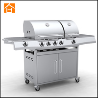 Happy Living 6 burner full stainless steel bbq grill gas